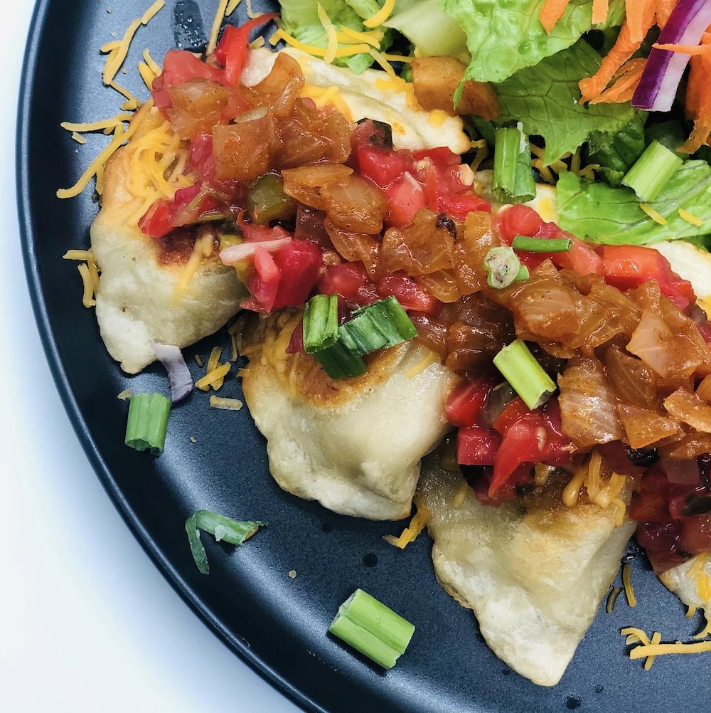Pierogi Pork and Chicken MexiCali Style